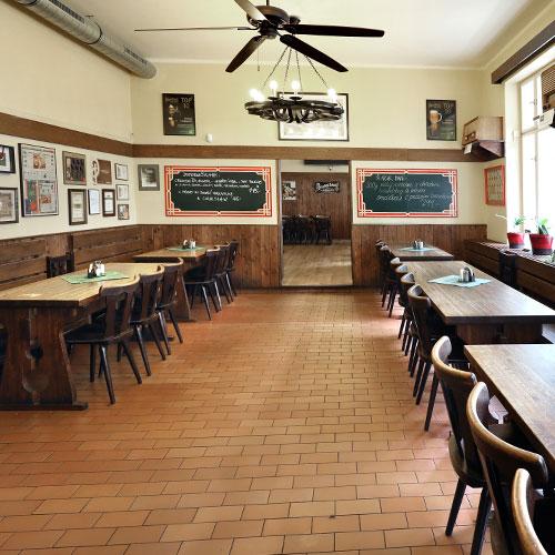 První část prostoru restaurace U Veverky
